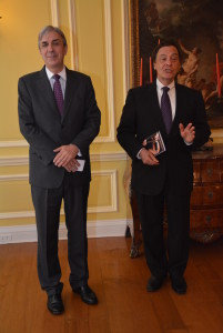 Ambassador of Portugal Nuno Brito, Jerome Barry, Director Embassy Series, Foto: Simon Morris