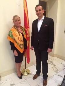Ambassador of Macedonia Vasko Naumovski Dr. Ina von Ber, CEO Ambassadorial Roundtble